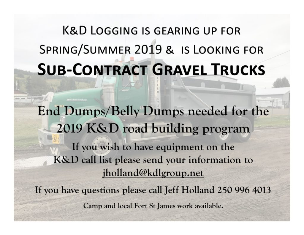 Sub Contract Gravel Trucks